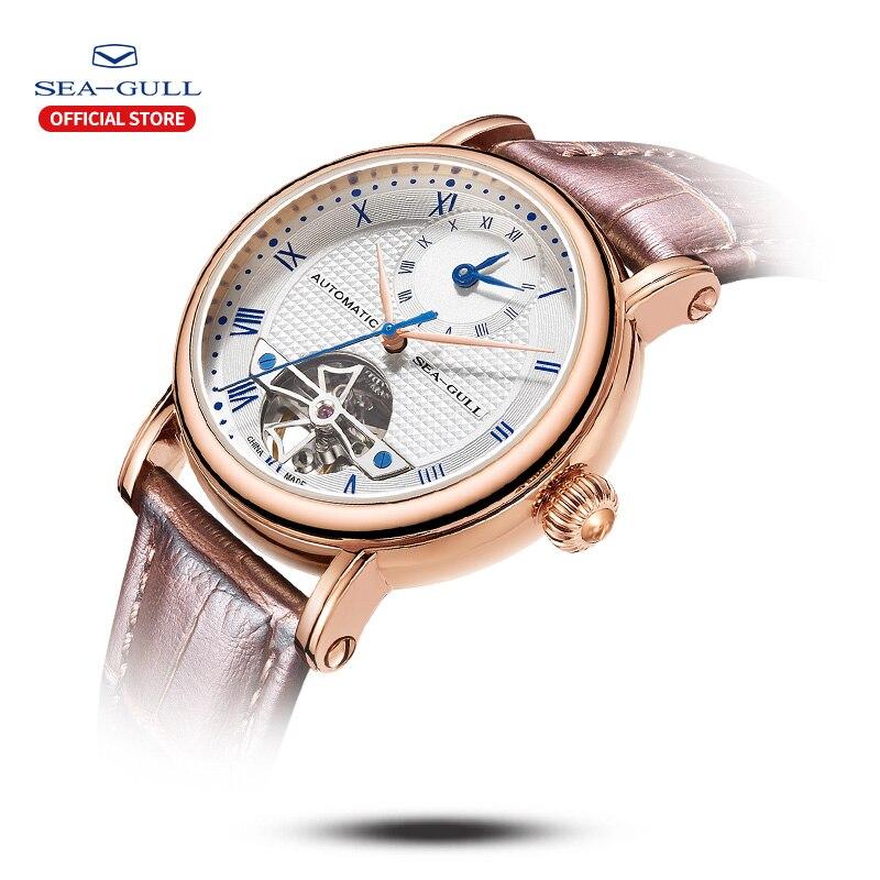Image 2 - 海カモメビジネス腕時計メンズ機械式腕時計カレンダー 30 メートル防水レザーバレンタイン男性腕時計 519.11.6040機械式時計   -