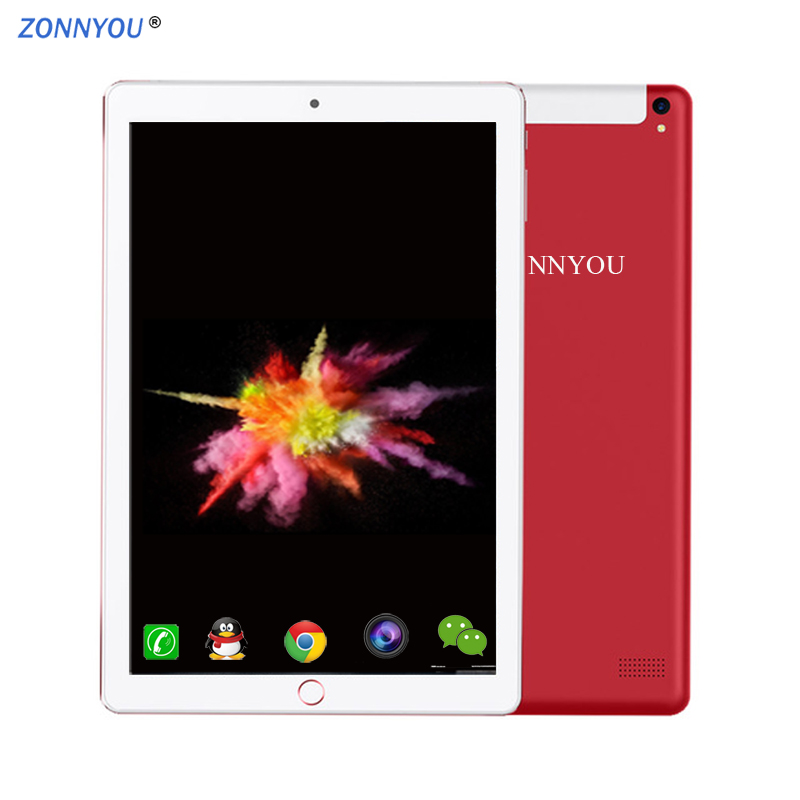10.1 Inch Tablet PC Android 8.0 Dual SIM Card Slots 3G/4G Phone Call Wi-Fi 4GB+64GB Octa-Core GPS WiFi Bluetooth Tablet Pc