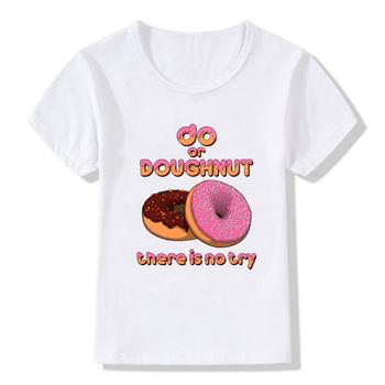 Koszulki dla dziewczynek koszulki dla dzieci pączki drukuj lato Casual koszulki z okrągłym dekoltem koszulki dla dzieci koszulki dla dziewczynek ubrania dla dzieci tanie i dobre opinie ZSIIBO COTTON Poliester Na co dzień REGULAR O-neck Krótki Pasuje mniejszy niż zwykle proszę sprawdzić ten sklep jest dobór informacji