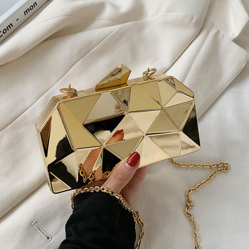 Women's Handbag Bags for Women 2020 Clutches Fashion Geometric Mini Party Evening Purse Crossbody Shoulder Bag Gold Box Clutch new fashion sequined envelope clutch women s evening bags bling day clutches pink wedding purse female handbag 2019 banquet bag