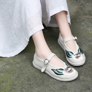 New Retro Cloth Shoes Womens Single Hanfu Embroidered Novelty Casual Ethnic