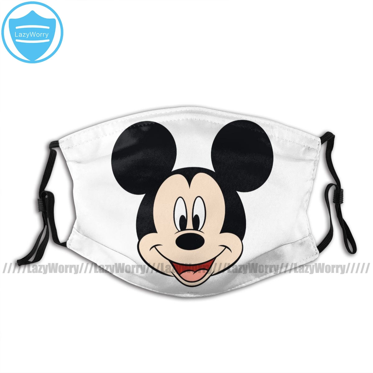 Mickey Mouse Mouth Face Mask Modern Mickey Smiling Head Facial Mask Nice With 2 Filters Kawai For Adult Mask