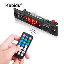 Kebidu 12V inalámbrico Bluetooth placa decodificadora de Audio del coche del módulo MP3 jugador MP3 WMA WAV AUX 3,5 MM USB TF decodificador FM junta de hablar