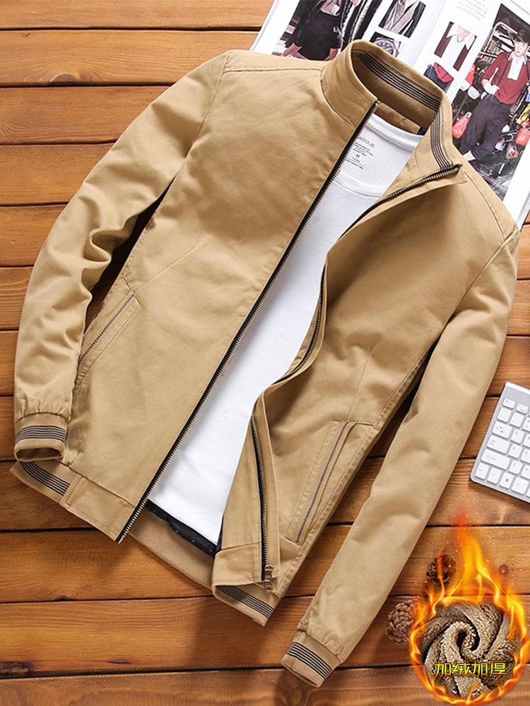 Autumn And Winter MEN'S Coat Brushed And Thick Korean-style Trend 2018 New Style Spring And Autumn Casual Jacket Handsome Men'S