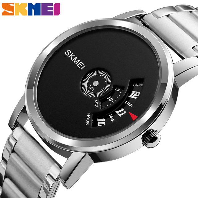 SKMEI Mens Quartz Watch Waterproof Full Steel Fashion Watches Top Luxury Brand Wristwatches Male Clock Relogio Masculino 1260