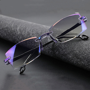 2020 Men Women Rimless Reading Glasses Anti Blue Light Magnification Eyewear Presbyopic Glasses Diopter okulary