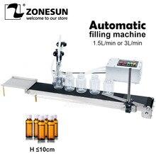 ZONESUN Автоматическая электрическая конвейерная лента с одной головкой, жидкий наполнитель может чувствовать высокоточную термостойкую упа...