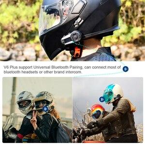 Image 3 - Fodsports 2 pcs V6 Plus Intercom 6 riders 1200m motorcycle helmet intercom moto bluetooth helmet Headset Intercomunicador FM LED