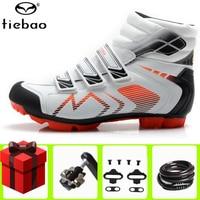 TIEBAO cycling shoes 겨울 SPD 페달 sapatilha ciclismo mtb 남자 자전거 산악 자전거 self-locking chaussures vtt homme sneaker