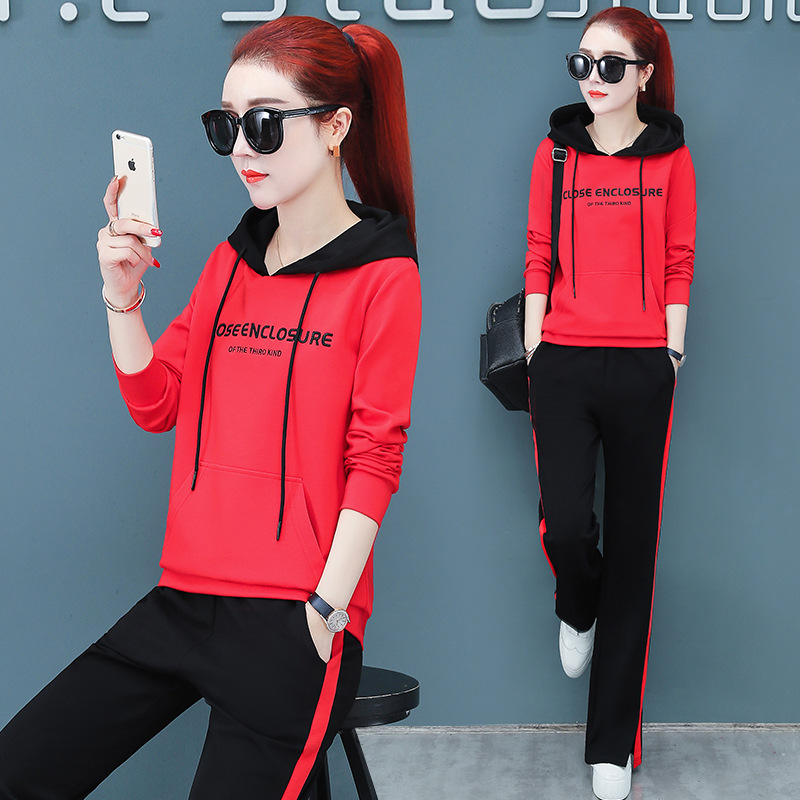 Sports Clothing WOMEN'S Suit Spring And Autumn 2019 New Style Popular Brand Fashion Western Style Loose-Fit Korean-style Hoodie