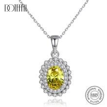 Женское колье с овальным камнем doteffil желтое свадебное ожерелье