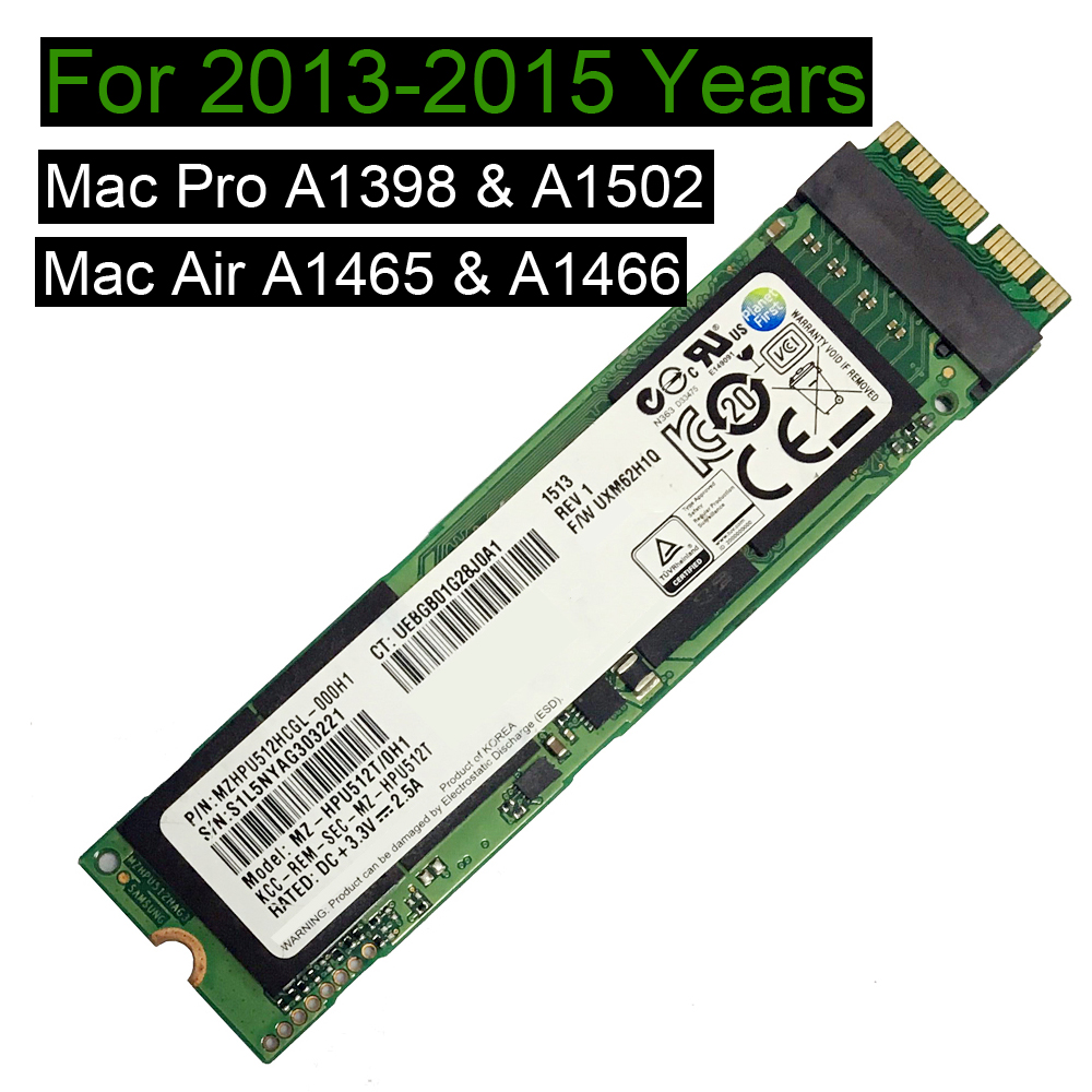 256GB 512GB SSD ForMacbook Pro Retina 2013 2014 2015 A1398 A1502 Macbook Air 2013 2014 2015 A1465 A1466 512GB Solid State Drive
