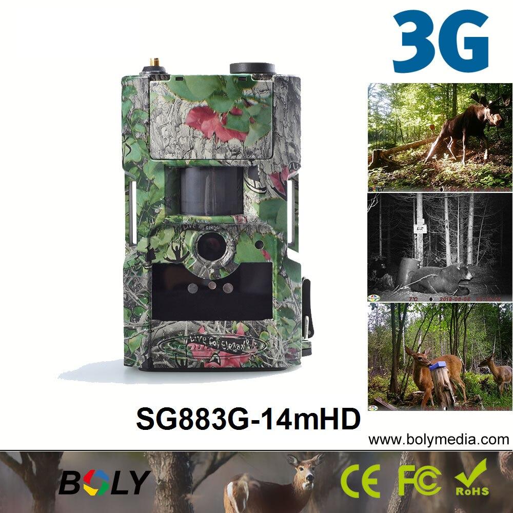 3G caméras de chasse sans fil Bolyguard SG883G-14mHD MMS/GPRS 14MP 940nm caméras de suivi IR invisibles pièges photo