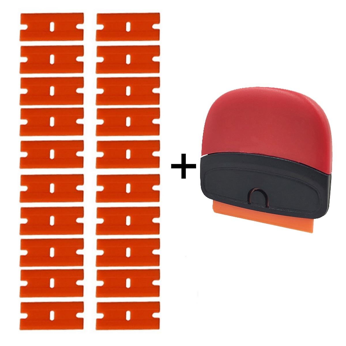 Car Sticker Razor Scraper Plastic Blade Carbon Film Glue Remover Blade Scrapers