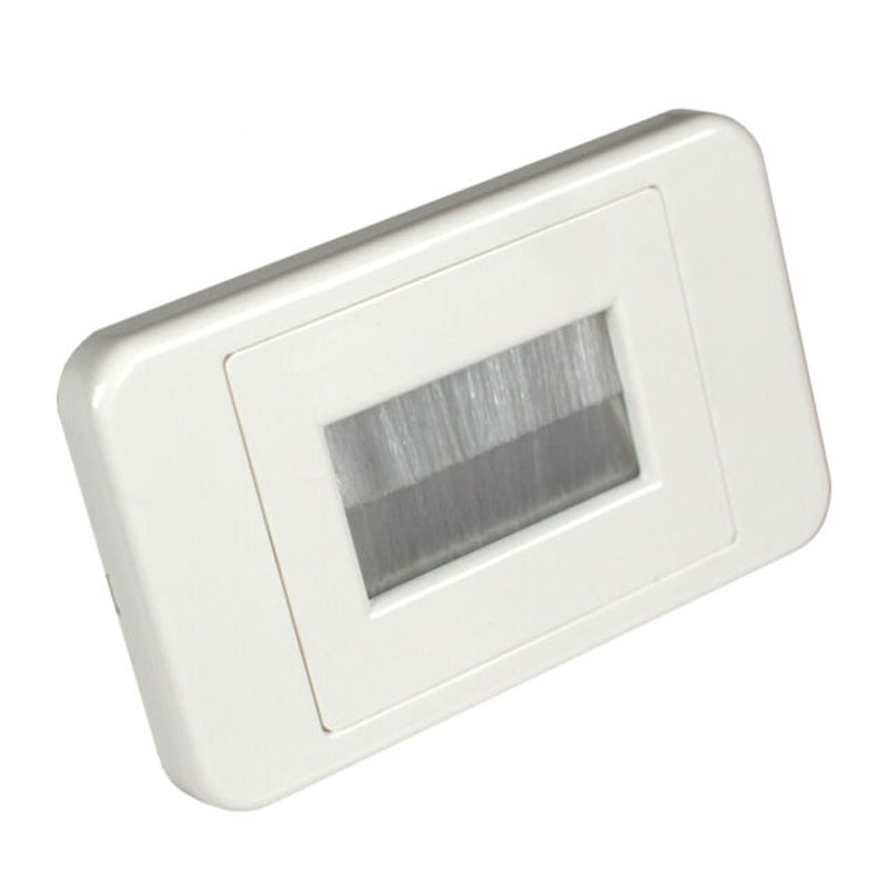 Brush Flush Wall Plate In-Wall Cable Management