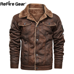 Image 2 - ReFire Gear Winter Warm Army Tactical Jackets Men Pilot Bomber Flight Military Jacket Casual Thick Fleece Cotton Wool Liner Coat