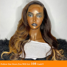 Water Wave 13x6 Lace Front Human Hair Wigs PrePlucked Honey Blonde Heighlight Soft Remy Glueless Transparent Indian Hair Wig