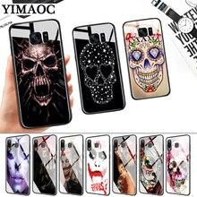 Grim Reaper Skull Glass Case for Samsung S7 Edge S8 S9 S10 Plus S10E Note 8 9 10 A10 A30 A40 A50 A60 A70