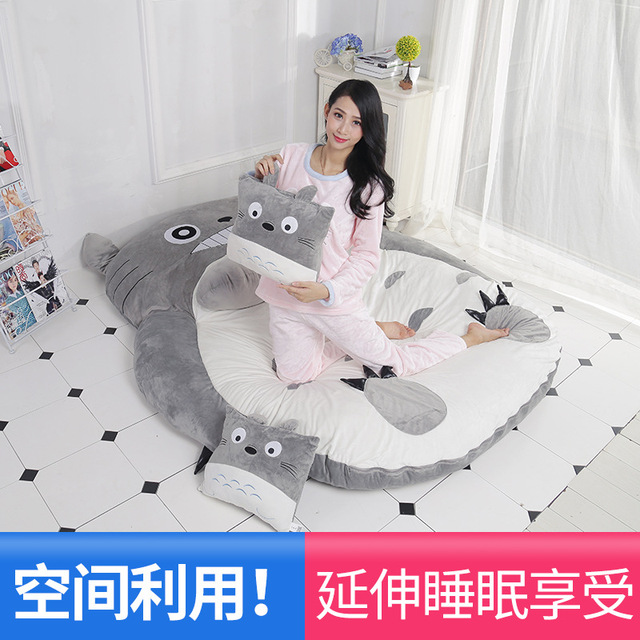 Cartoon mattress Totoro lazy sofa bed Suitable for children tatami mats Lovely creative small bedroom sofa bed chair 4