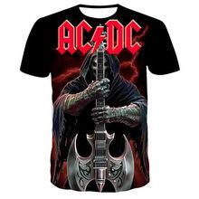 T-shirts Männer AC DC 3D Gedruckt Sommer Marke T-shirt Männer der mode Neue Stil t-shirt Lustige Freizeit T-shirt 2XL-4XL