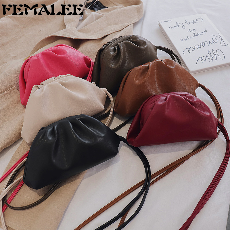 Mini Envelope Cloud Bag Small Soft Wrinkled Dumpling Shoulder Bag Tiny Luxury Handbags For Women Designer Evening Clutch Purses