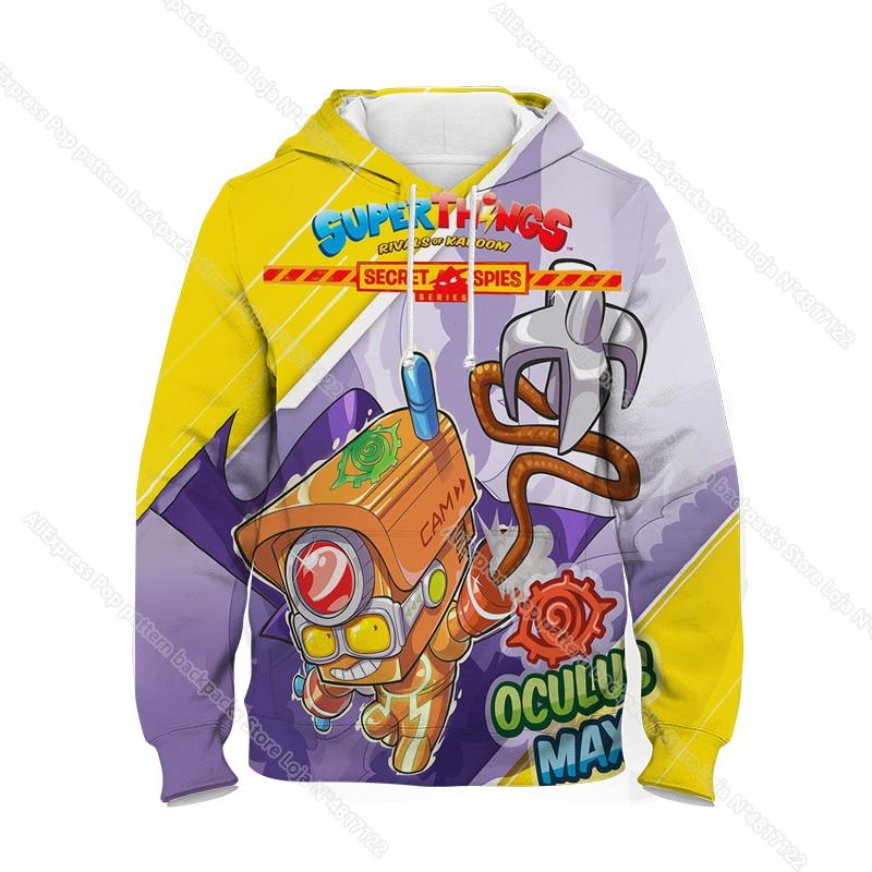 New Super Zings Series 6 Hoodies for Teens Girls Autumn Winter Kids 3D Cartoon Pullover Children Superzings Sweatshirt Boys Tops 11