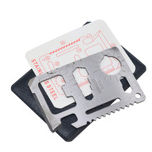 Multi Tools 11 In 1 Multifungsi Pisau Kredit Alat Saku EDC Gear Camp Card Pembuka Dompet Outdoor Gadget Saber Alat(China)