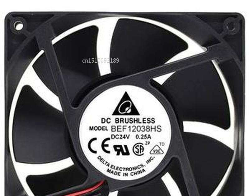 FOR Fan BEF12038HS 24V 0.25A 120X120X38MM Fan Free Shipping