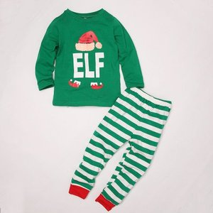 Christmas Pajamas Party Cosplay Family Christmas Letter Outfit Girl Holiday Elf Costume Family Christmas Costume Parent Children