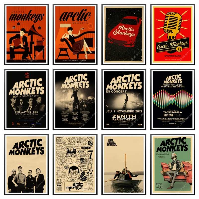 rock band arctic monkeys kraft paper paper posters wall home bar posters home decor gift home decor wall sticker