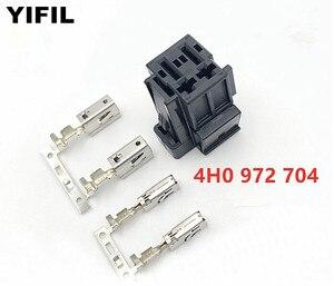 Image 1 - 4 pinos/maneira automático ventilador resistência plug ar condicionado resistência conector assento scoket para vw audi 4h0 972 704