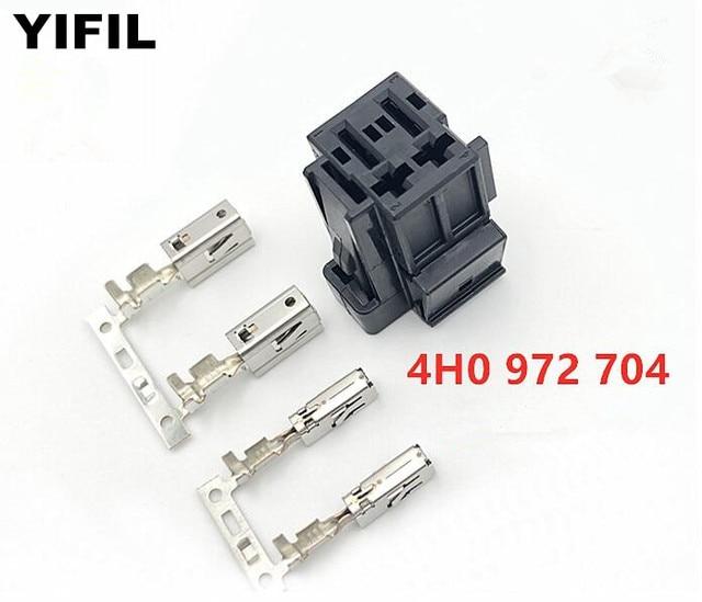 4 pinos/maneira automático ventilador resistência plug ar condicionado resistência conector assento scoket para vw audi 4h0 972 704