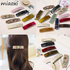 New Fashion Acetate Elegant Women Hairpins Casual Cute Brand Korean Colors Hair Clips For Girl Hair Barrettes Hair Accessories