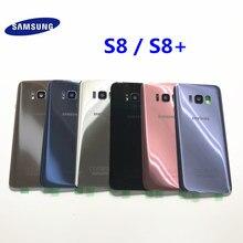 S8 bateria de vidro capa traseira para samsung galaxy s8 g950 g950f g955f s8 mais traseira da bateria habitação vidro + adesivo adesivo