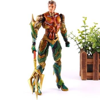 DC Comics Figure Justice League Play Arts Aquaman Super Hero Justice League Aquaman Action Figure PVC Collectible Model Toy
