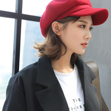Fall and Winter 2019 New Pure Wool Octagonal Hat Girl Fashion Newboy cap Leisure Hat
