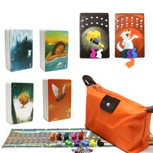 tell story deck 1 2 3 4 Card Games, 336 Playing Cards, Wooden Bunny Zipper Bag education toys for kids home Party Game gifts