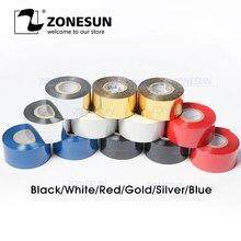 ZONESUN термальная лента печатной машины ленты, 30*100 м, печатная лента даты для пластика и бумаги(5 рулонов/лот