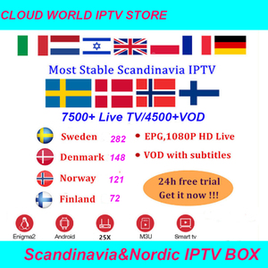 Scandinavian IPTV Nordic Sweden Norway Finland Denmark Irasel Arabic UK USA IPTV Subscription for TVIP 605 M3U Android Smart TV(China)