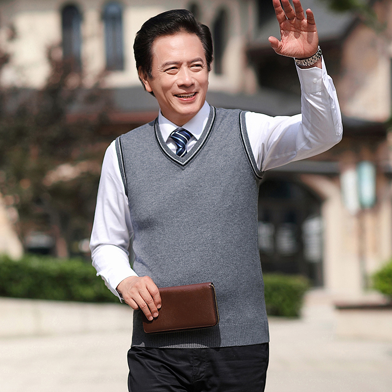 New Arrival Mens Sweater Vest Spring & Autumn Male Casual Solid Sleeveless Sweater Wool Jumper