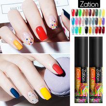Zation Gel Cat Kuku untuk Manikur Gellak 5 Ml Gel Nail Polish GEL Pernis Kuku Seni Lapisan Atas Cat Semi permanen Hybrid Primer(China)