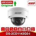 Hikvision 4MP PoE ip-камера H.265 DS-2CD1143G0-I HD CMOS Сетевые купольные камеры для видеонаблюдения 30 м ИК прозрачная ночная версия P2P удаленный доступ