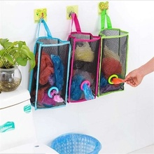 Breathable grid hanging kitchen garbage bag storage green shopping extraction