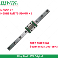 Free Shipping  Alloy  Steel HIWIN 9mm Linear Guide MGN9 200 250 270 300 350 400 450 500 550 mm linear rail with MGN9C block
