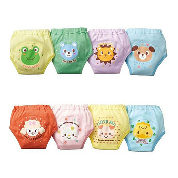 4 X Baby Toddler Girls Boys Cute Layers Waterproof Potty Training Pants reusable 2-3 Years