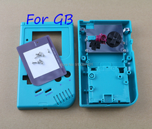 10sets/lot Replacement Full Housing Shell Cover Case for Gameboy Classic GB GBO Console w/ Rubber Pads Buttons