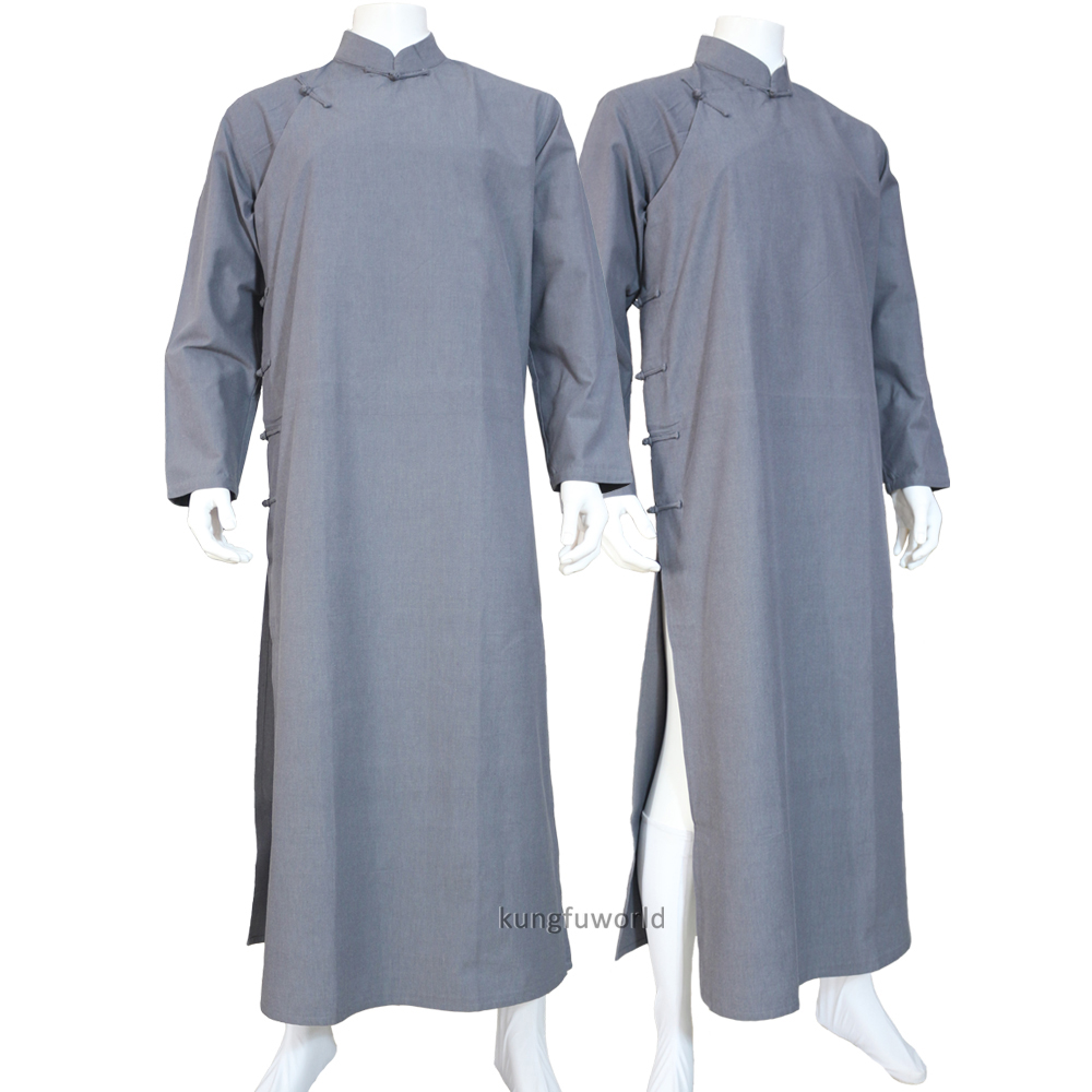 Cotton Wing Chun IP Man Robe Wudang Taoist Shaolin Buddhist Monk Kung Fu Suit Tai Chi Uniform Martial Arts Clothes