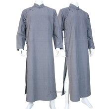 כותנה האגף האדם Robe Wudang הטאואיסטית שאולין הבודהיסטי נזיר קונג פו חליפת טאי צ י בגדי אמנויות לחימה אחידות
