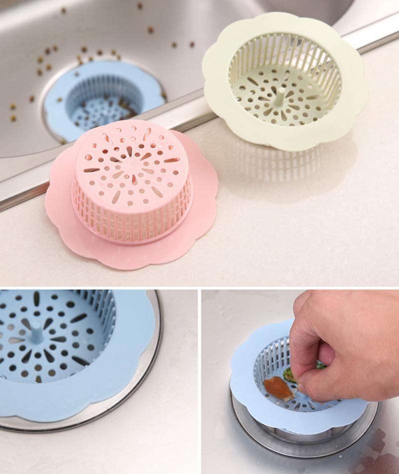 2Pcs Anti-blocking Floor Drain Sucker Sewer Outfall Strainer Sink Filter Hair Stopper Catcher Bathroom Kitchen Accessories Tool