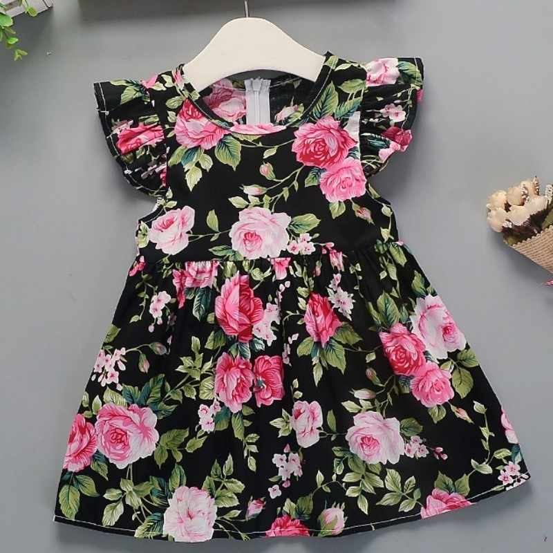 Girls Dress 2019 Summer New Girl Floral Dress Baby Cotton Floral Princess Dress Dresses